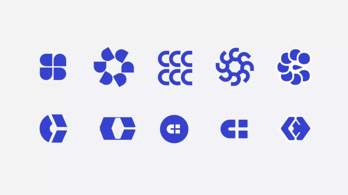 Минималистичные варианты логотипа сипиэйхаб  - Веб студия дизайна Гуси Лебеди Москва