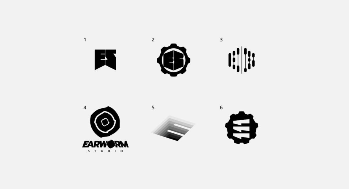 Creative logos Earworm in Russia  - Web studio Gusi Lebedi Moscow